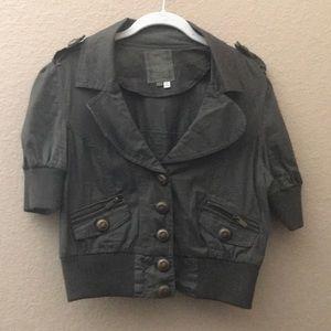 Button down short sleeve blazer.